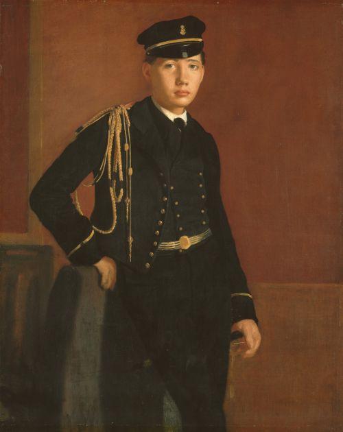 Achille De Gas In Cadet Uniform