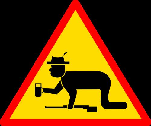 achtung schützenfest sign road