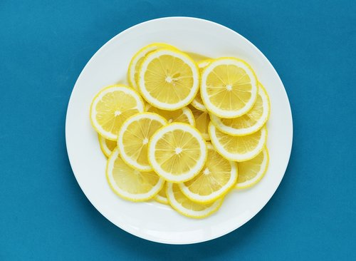 acid  blue background  citric