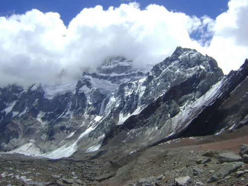 aconcagua south wall mountains