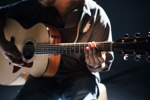 acoustic band guitar