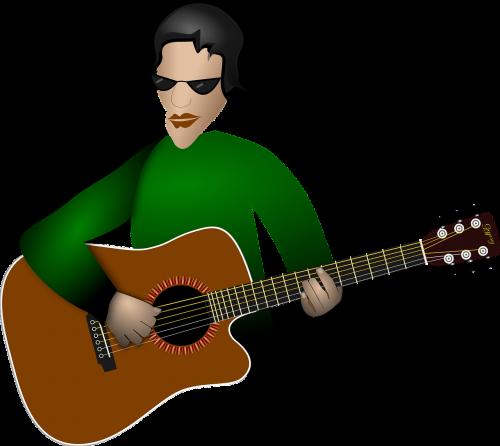acoustic guitar guitar man