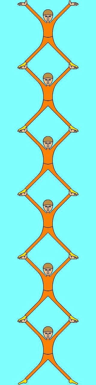 acrobats athletes lifting