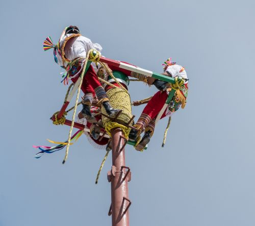 acrobats aerial performance costa maya