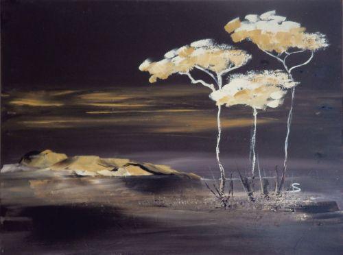acrylic painting own production savannah