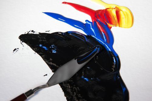 acrylic paints color spatula