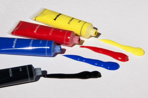 acrylic paints color basic colors