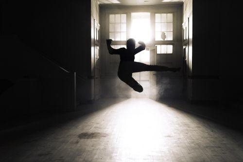 action art backlit