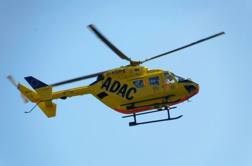 adac helicopter yellow angel