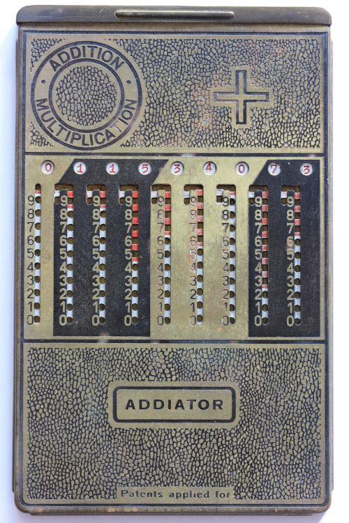 addiator mechanical calculator