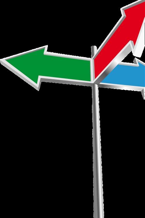 address arrows crossing