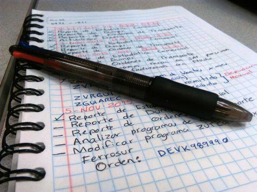 address book pen notes