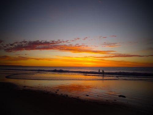 adelaide moana beach beach sunset