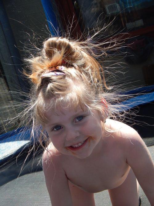 adelka sister trampoline