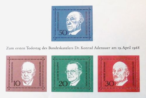 adenauer stamp date of death