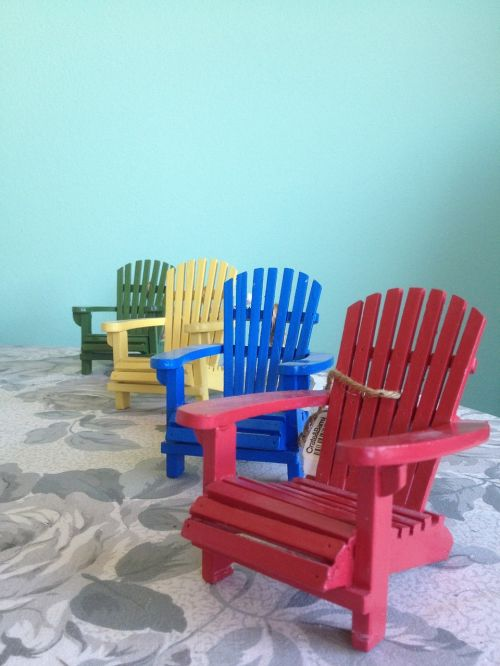 adirondack chairs red chair blue chair