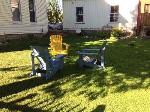adirondack chairs shadows relaxation