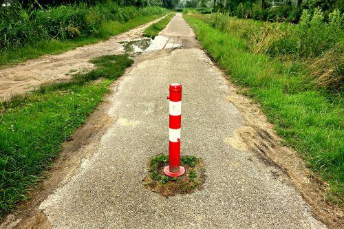adjustable road block bike path no entry post