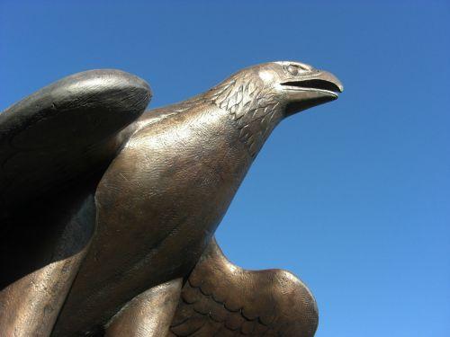 adler bronze statue