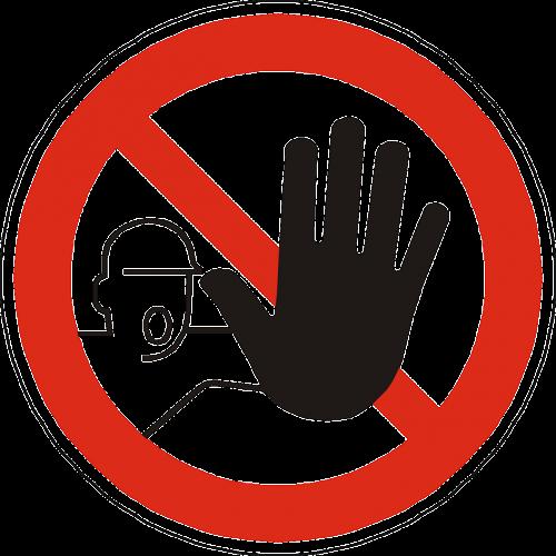 admittance entry prohibited