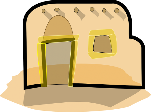 adobe house building