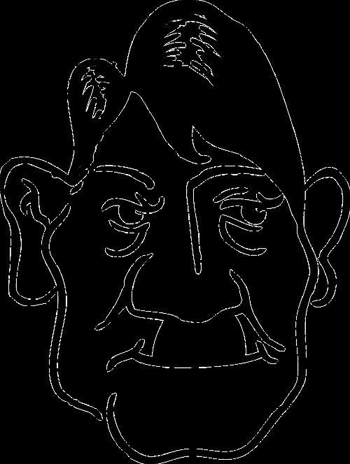 adolf hitler caricature man