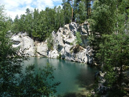 adršpach,czech republic,flooded quarry,lake,summer,water,nature