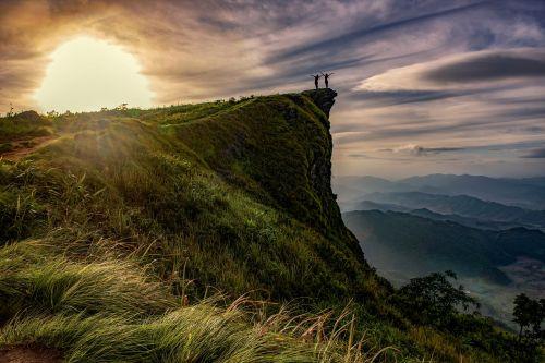above hiking climb