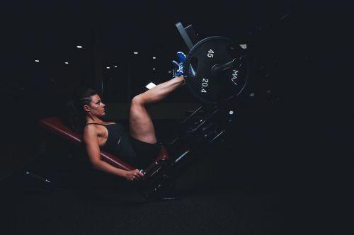 adult athlete dark