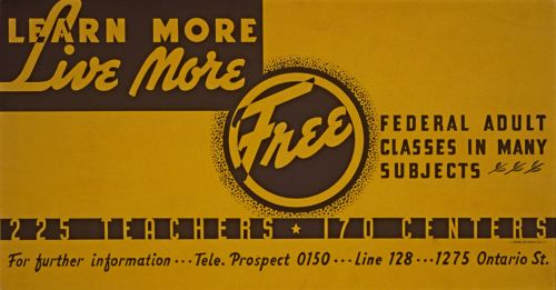 Adult Education Vintage Poster