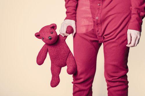 Adult, Pajamas, Pooh, Hot Pink