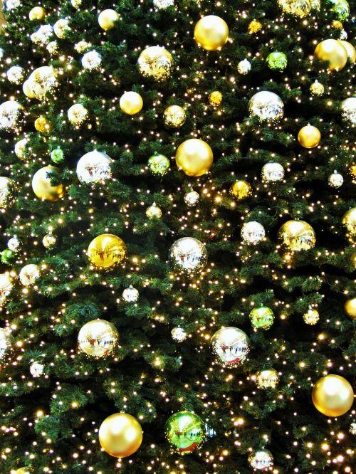 golden fir ball golden christmas tree advent
