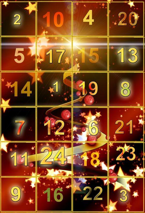 advent calendar door golden