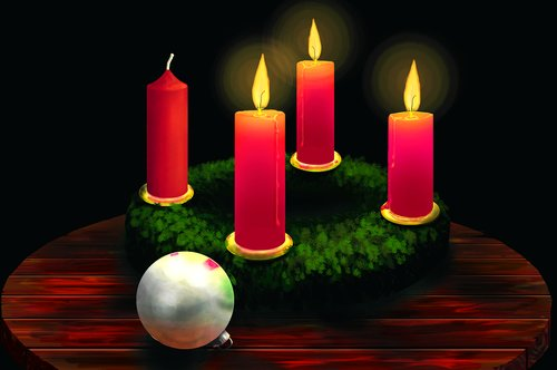 advent wreath  candles  christmas time
