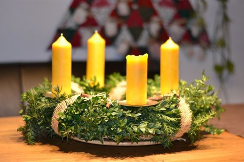 advent wreath christmas deco