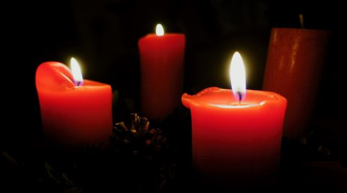 advent wreath candlelight candle wax