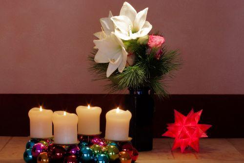 advent wreath christmas amaryllis