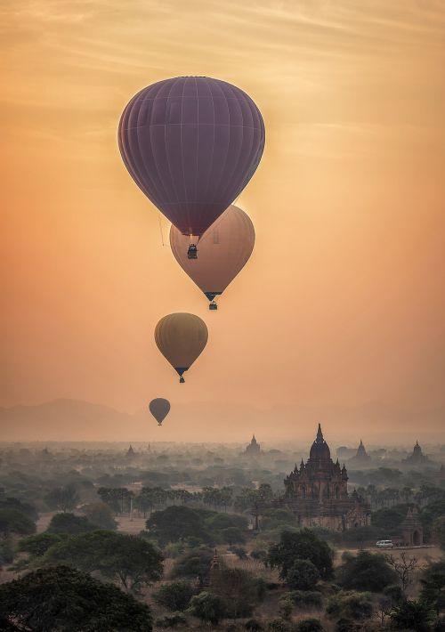adventure hot air ballon ancient