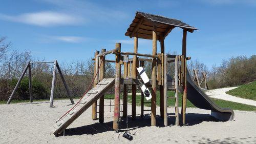 nuotykių žaidimų aikštelė, žaidimų aikštelė, skaidrių, žaisti, vaikai, žaidimų įrenginys, vaikų žaidimų aikštelė, mediena, baras, smėlio duobė, vaikai, namelis, kletterhaus