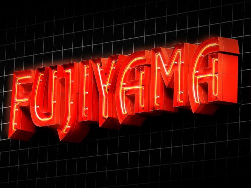 advertisement advertising neon sign
