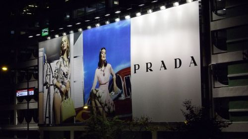 advertising prada billboard