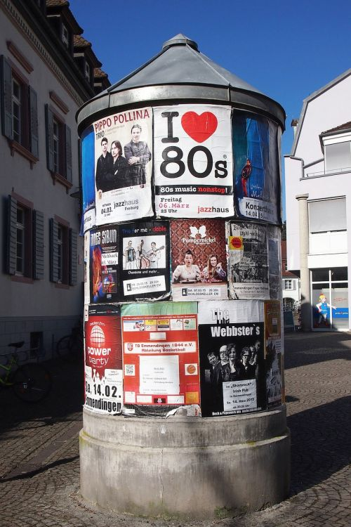 advertising pillar litfaß posters