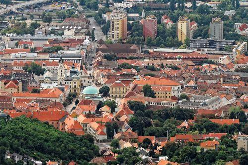 aerial city landscape