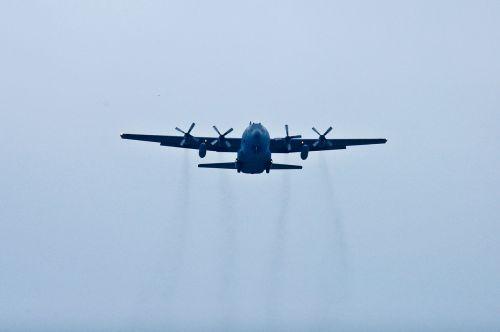 aerial lockheed martin c-130 hercules jet