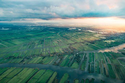 aerial netherlands europe