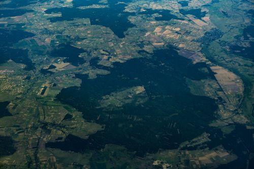 aerial flight view