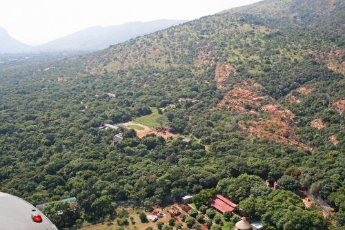 Aerial Of Hillside