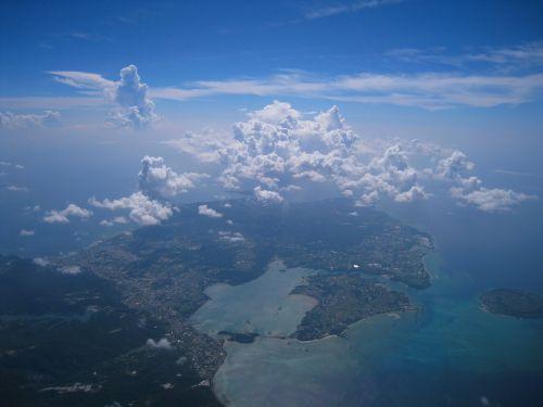 aerial photograph cloud sea