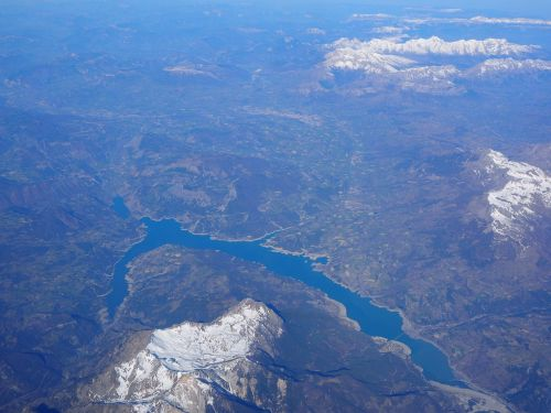 aerial view luftbildaufnahme lac de serre-ponçon