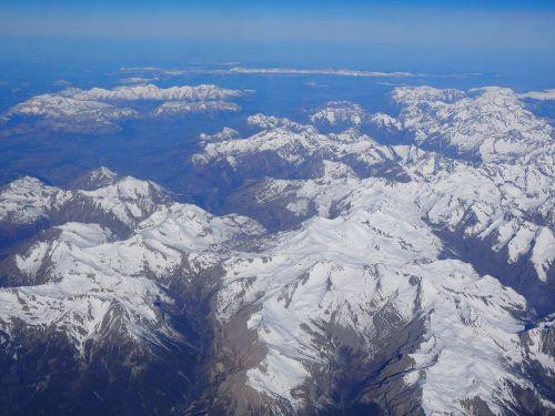 aerial view luftbildaufnahme alpine